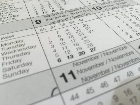 High School calendar